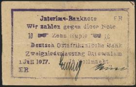 R.938a: Deutsch-Ostafrika 10 Rupien 1917 (3)