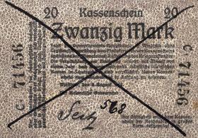 R.944: Deutsch-Südwestafrika 20 Mark 1914 entwertet (2)