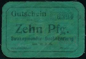 R.948b: Swakopmunder Buchhandlung 10 Pfg. (1916) (3-)