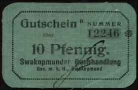 R.950: Swakopmunder Buchhandlung 10 Pfennig (1916) B (3)