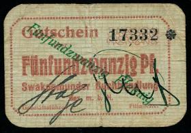 R.951a: Swakopmunder Buchhandlung 25 Pfennig (1916) (3+)