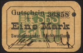 R.955: Swakopmunder Buchhandlung 1 Mark (1916) (1/1-)