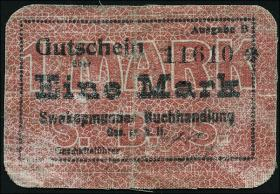 R.957b: Swakopmunder Buchhandlung 1 Mark (1916) (3-)