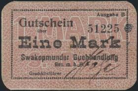 R.957b: Swakopmunder Buchhandlung 1 Mark (1916) (2)