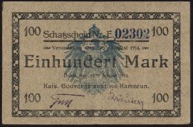 R.964b: Kamerun 100 Mark 1914 (3+)