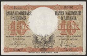 Albanien / Albania P.11 10 Lek (1940) (1-)