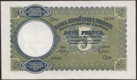 Albanien / Albania P.06 5 Franga 1939 (2)