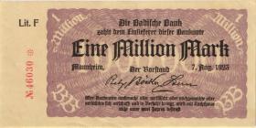 R-BAD 11a: 1 Mio. Mark 1923 (1-)