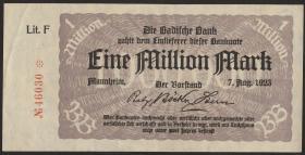R-BAD 11a: 1 Mio. Mark 1923 (2)
