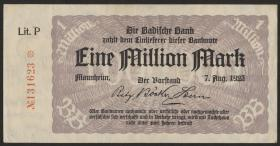R-BAD 11b: 1 Mio. Mark 1923 (1)