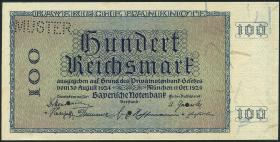 R-BAY 24D: 100 Reichsmark 1924 MUSTER (1)