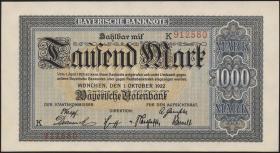 R-BAY 05a: 1000 Mark 1922 (1)