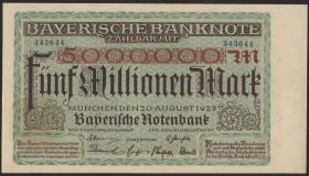 R-BAY 13b: 5 Mio. Mark 1923 (1/1-)