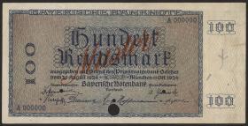 R-BAY 24: 100 Reichsmark 1924 Muster (1/1-)
