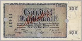 R-BAY 24M: 100 Reichsmark 1924 Muster (1/1-)