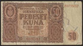 Kroatien / Croatia P.01 50 Kuna 1941 (3)