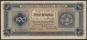 Kroatien / Croatia P.11 100 Kuna 1943 (1)