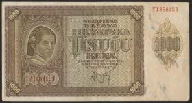 Kroatien / Croatia P.04 1000 Kuna 1941 (3)