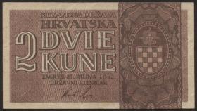 Kroatien / Croatia P.08a 2 Kuna 1942 (1)