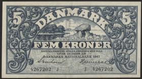 Dänemark / Denmark P.30h 5 Kroner 1942 J (2)