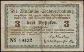 Lettland / Latvia LE 24a: 3 Kopeken 1915 Mitau (3)