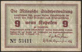 Lettland / Latvia LE 26a: 9 Kopeken 1915 Mitau (3)