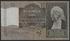 Niederlande / Netherlands P.053 10 Gulden 1940 (3+)