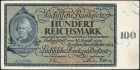 R-SAX 27: 100 Reichsmark 1924 (3+)