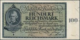 R-SAX 27M: 100 Reichsmark 1924 MUSTER-Perforation (1)