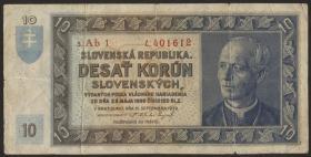 Slowakei / Slovakia P.04a 10 Korun 1939 (3)