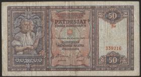 Slowakei / Slovakia P.09a 50 Korun 1940 (3)