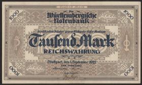 R-WTB 12a: 1000 Mark 1922 (2+)