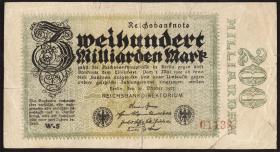 R.118F: 200 Milliarden Mark 1923 (4-) Fälschung