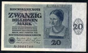 R.135: 20 Billionen Mark 1924 (3+)