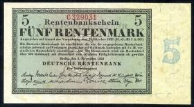 R.156a 5 Rentenmark 1923 (2)