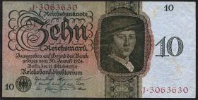 R.168a 10 Reichsmark 1924 U/J (2)