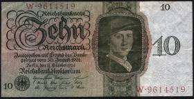 R.168a 10 Reichsmark 1924 C/W (3)