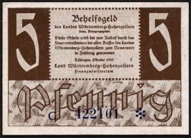 R.214b: Württemberg 5 Pf. 1947 (1)