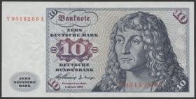 R.263f 10 DM 1960 Y/A Ersatznote (2)