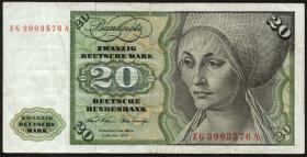 R.271c 20 DM 1970 ZG Ersatznote (3)