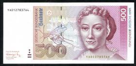 R.301b 500 DM 1991 YA Ersatznote (1/1-)
