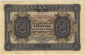 R.339d: 50 Pfennig 1948 7-stellig Serie L (3+)