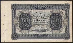 R.339P: 50 Pfennig 1948 Farb- und Perforations-Probe ohne Kenn-Nr. (1-)