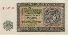 R.349b 5 Mark 1955 YB (2) Ersatznote