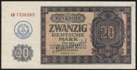 R.386 20 DM (1955) Militärgeld Überdruck (1/1-)