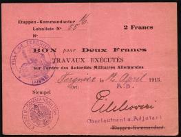 R.407 2 Francs 1915 (3+)