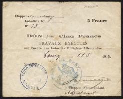 R.408 5 Francs 1915 (3-)