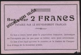 R.426: Frankreich 2 Francs (1915) Specimen (1-)