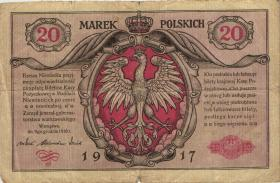 R.444: Besetzung Polen 20 Marek  1917 (4)