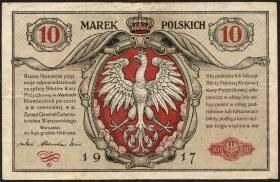 R.448: Besetzung Polen 10 Marek 1917 II.Ausgabe (3)